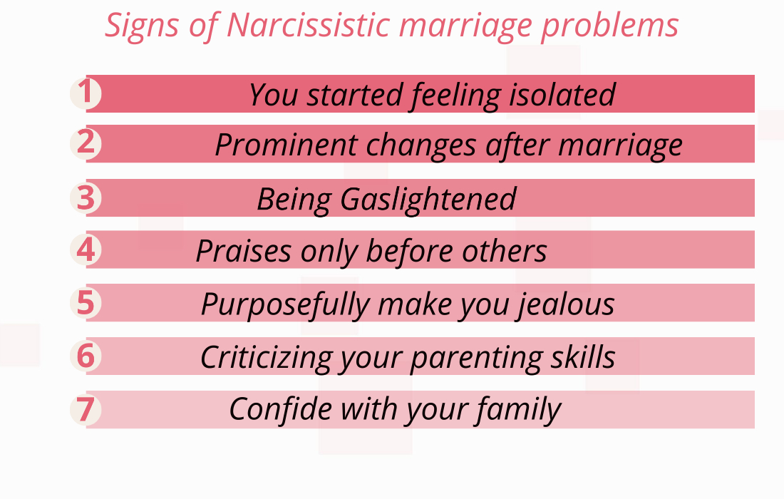 Narcissistic marriage problems