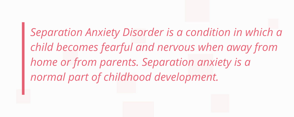 seperation anxiety disorder