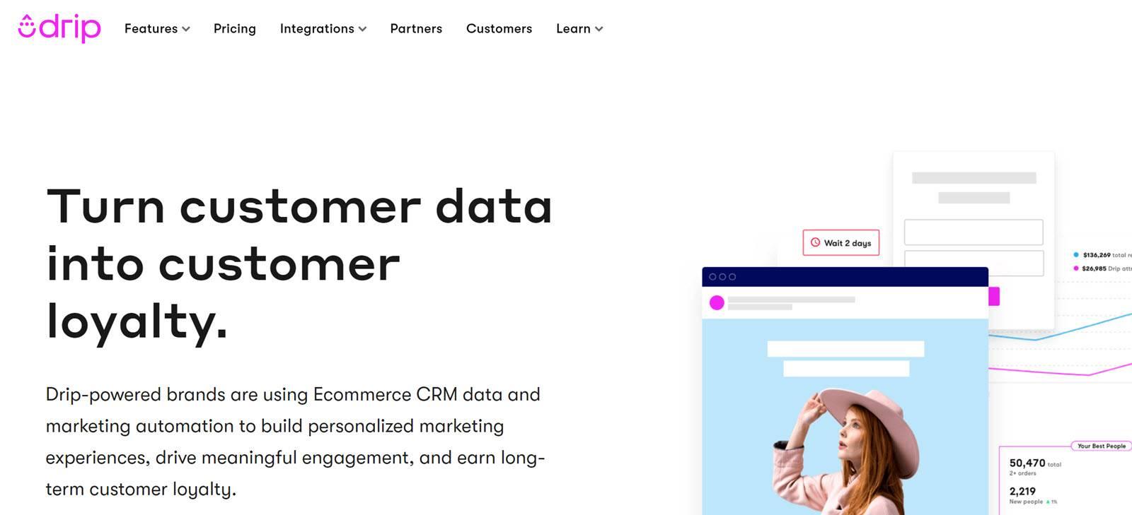 Best CRM Email Marketing Automation Platform - Drip