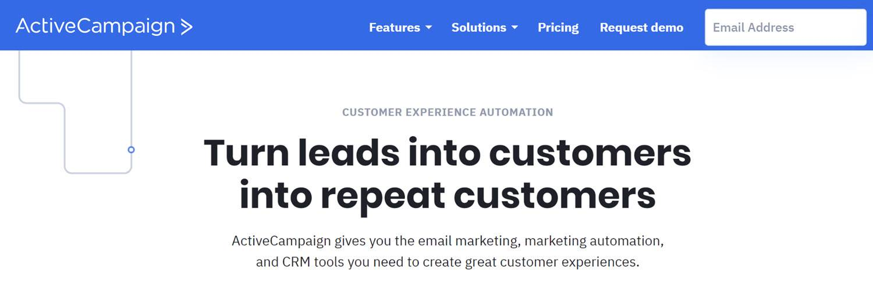 Best CRM Email Marketing Automation Platform - Activecampaign