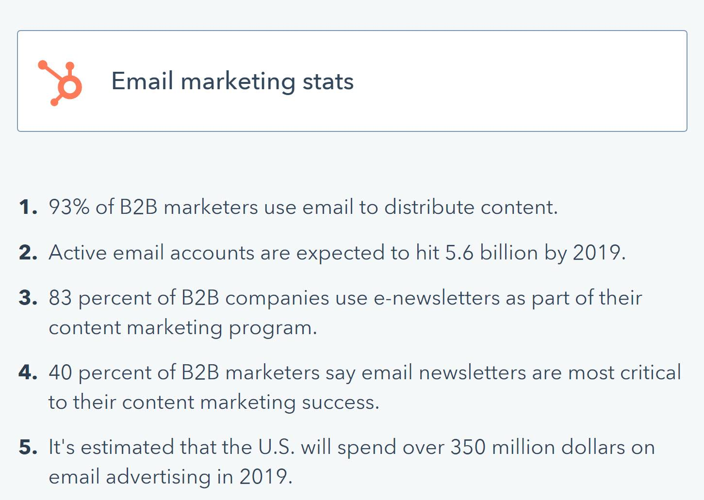 measuring marketing effectiveness of blog SEO -email stats