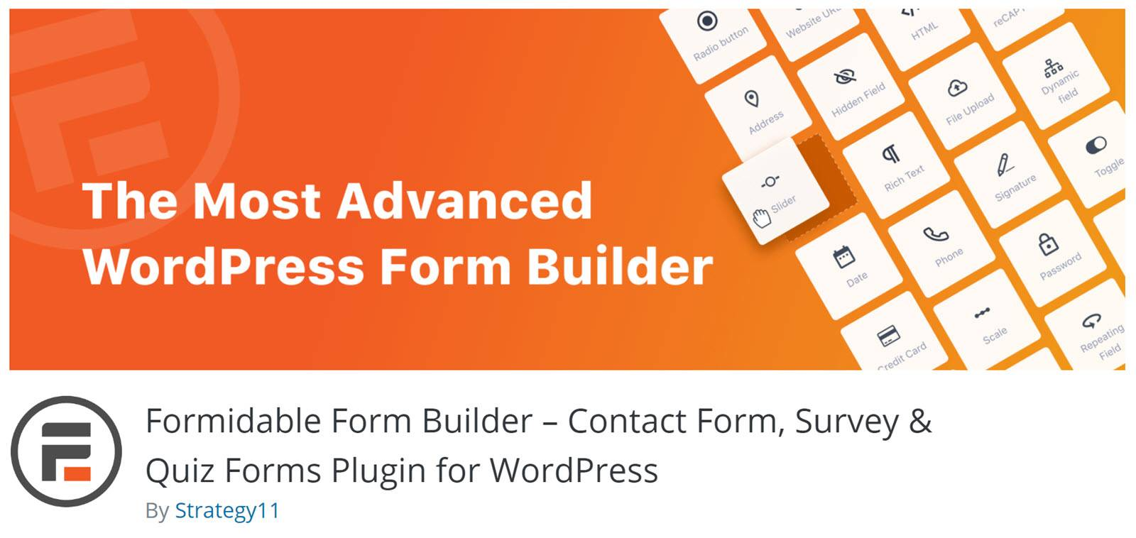 WordPress form builder plugins - Formidable