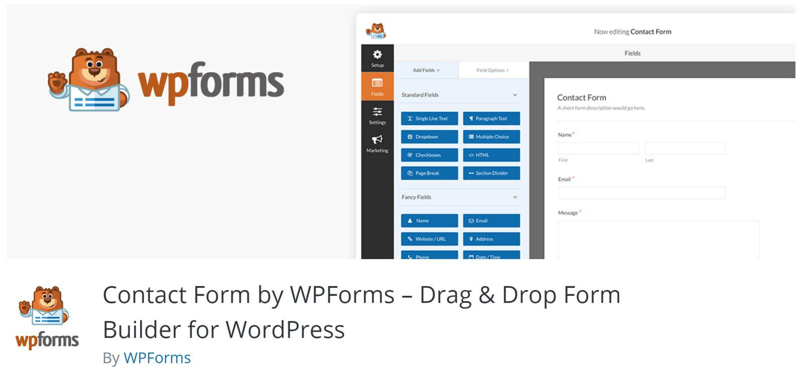 WordPress form builder plugins - WPForms