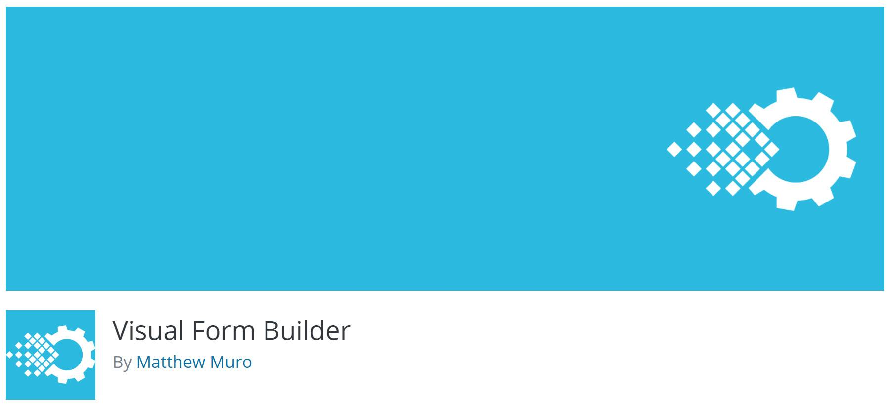 WordPress form builder plugins -Visual form builder
