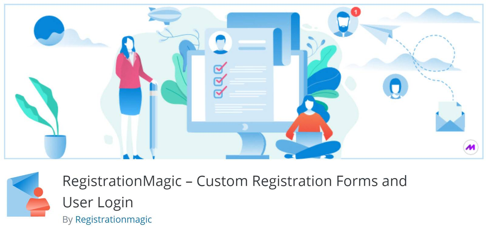 WordPress plugin for forms Registration magic
