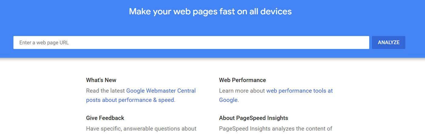 website testing tools - google pagespeed