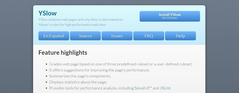website testing tools YSlow