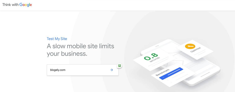 website testing tools Google testmysite