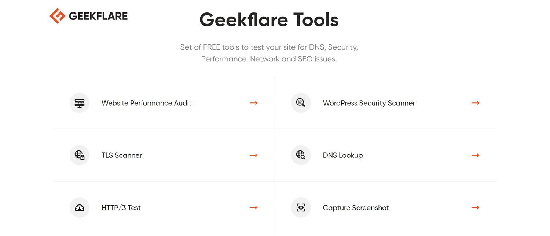 website testing tools - Geekflare