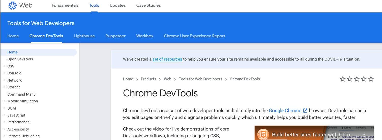 website testing tools Devtools
