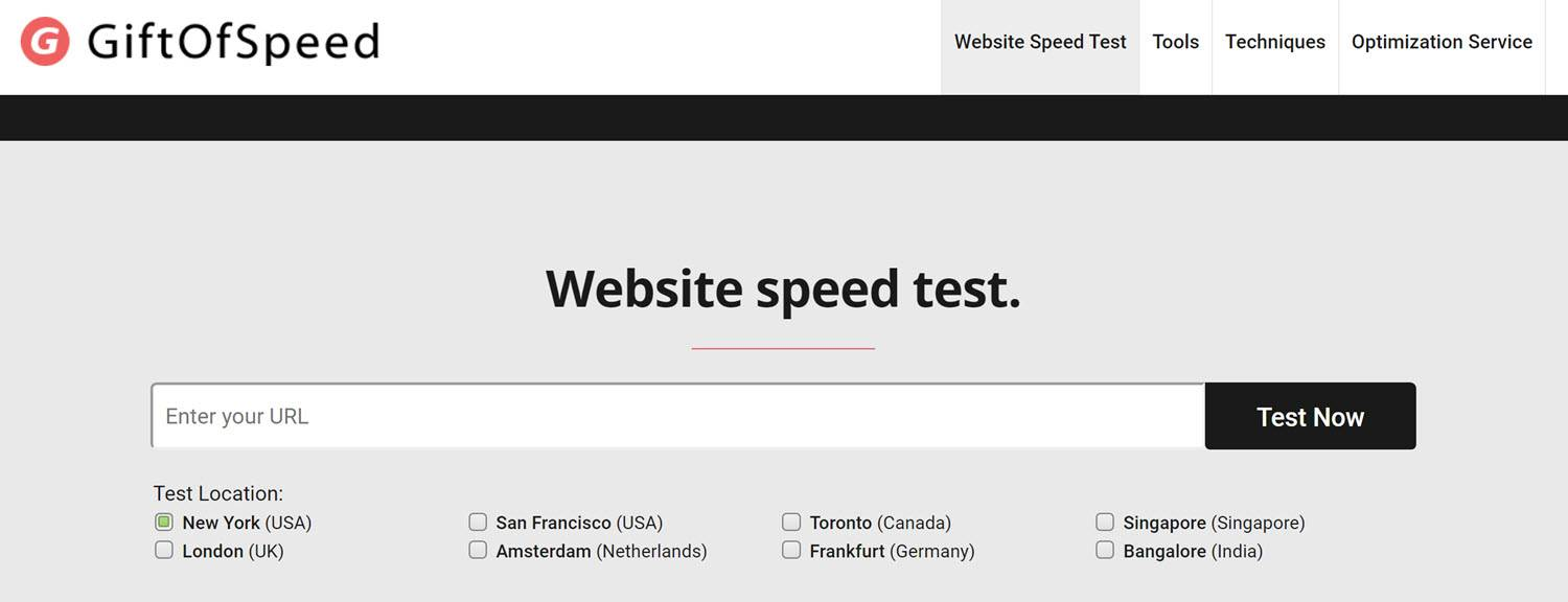 website testing tools Gift of speed