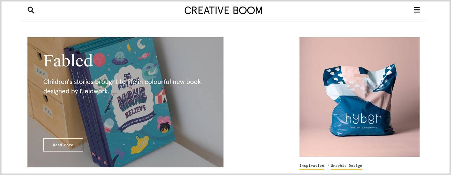 Creative boom Graphic Design Blogs
