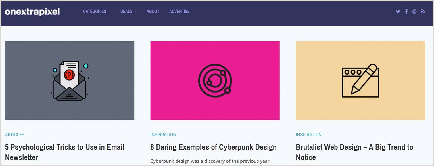 One extra pixel Graphic Design Blogs