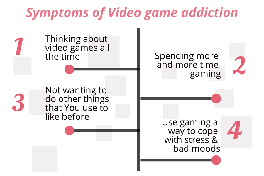 symptoms of video game addiction