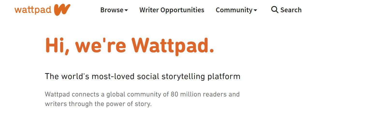 Wattpad - Best Online Content Writing Jobs From Home